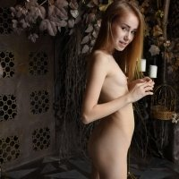 Young flat and thin Marika shows her youthful naked body