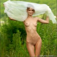 Thin Anya has a super flat nude body with beautiful hips
