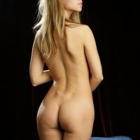Goldie a young and petite skinny girl showing her little nude ass