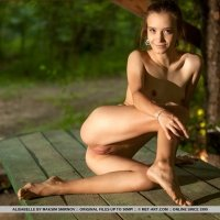 Beautiful nudes of SUPER skinny teen girl Alisabelle