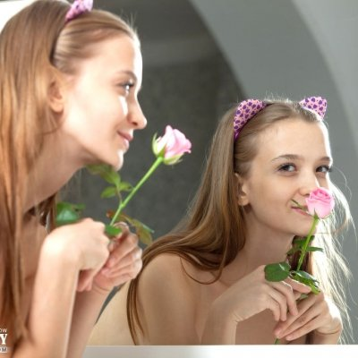 Cute little nymphet Alisabelle a young thin teen girl