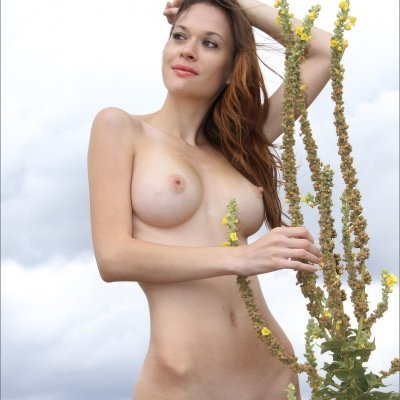 Iveta a beautiful nude skinny girl with big firm tits