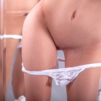 Beautiful and cute skinny girl nudes of Alisabelle a little and petite girl